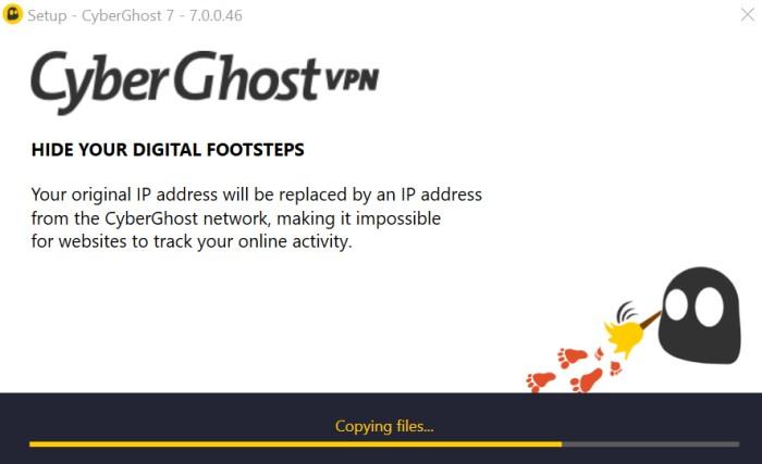 CyberGhost  app install