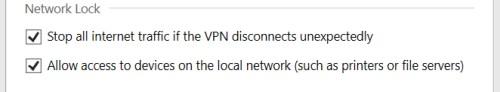 ExpressVPN  blokada sieci opcji aplikacji