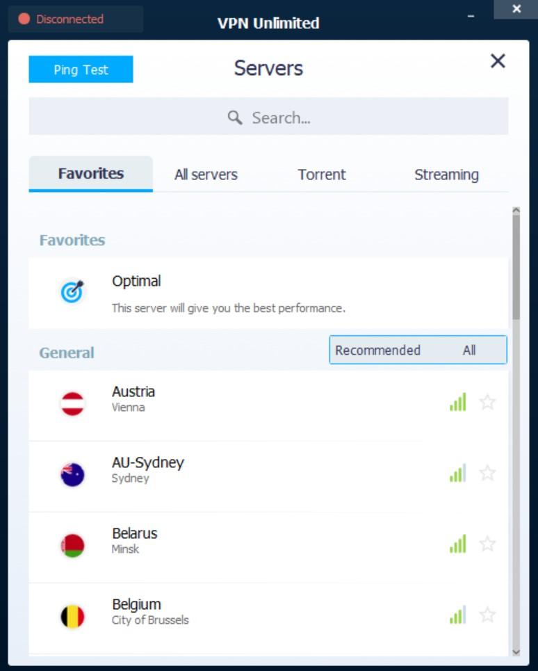 vpnunlimited app servers