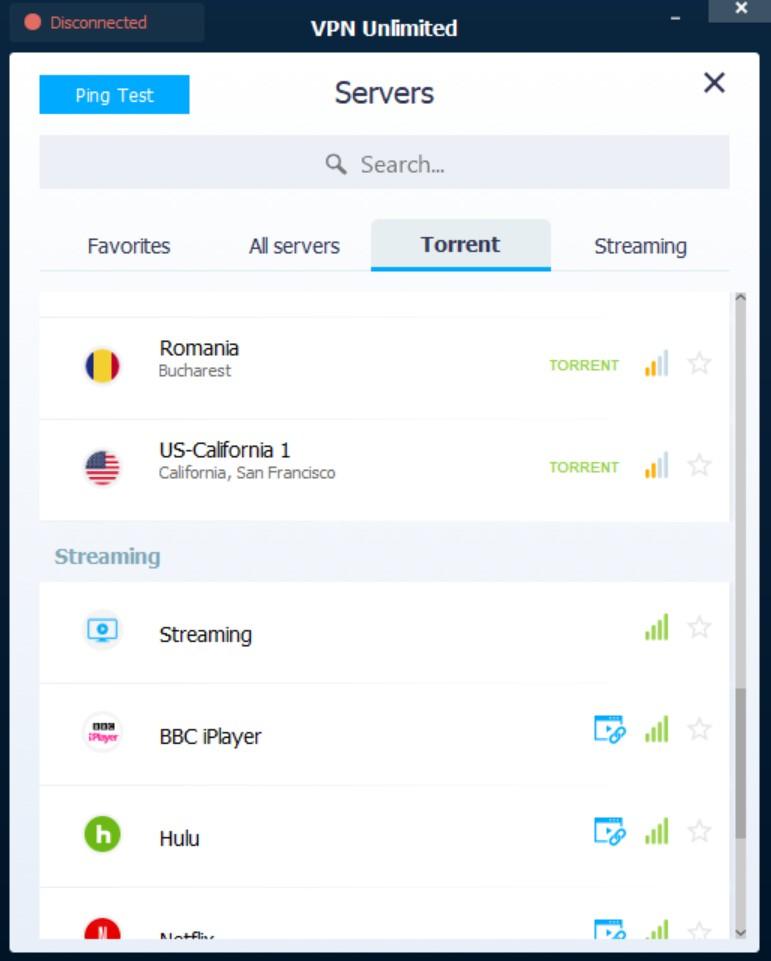 vpnunlimited app servers torrent