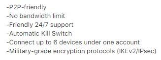 Funkcje Nord VPN