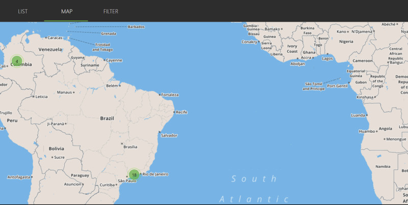 ipvanish server map
