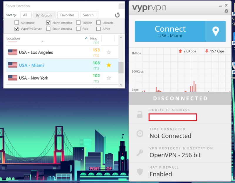 vyprvpn app server sort by