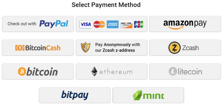 Private Internet Access payment method