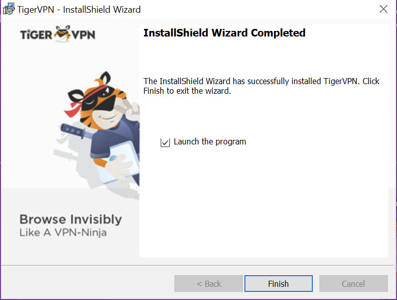 tigervpn finish install