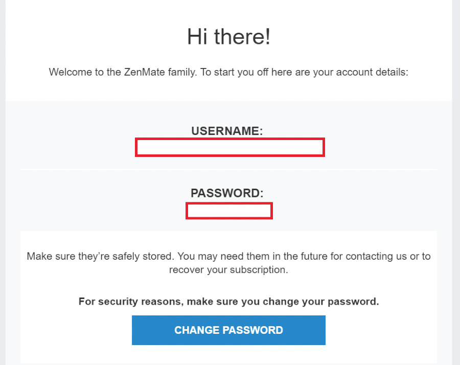 zenmate password