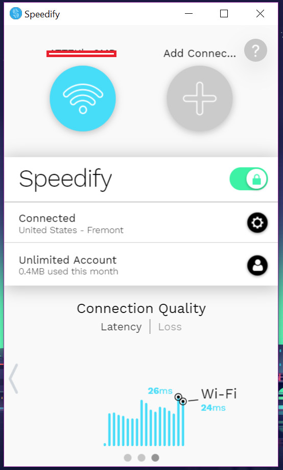 speedify app home2
