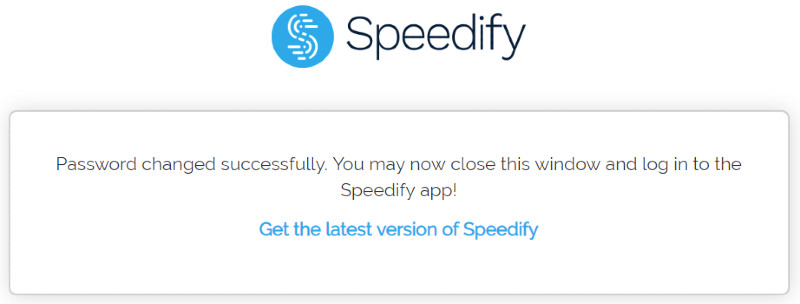 speedify password set