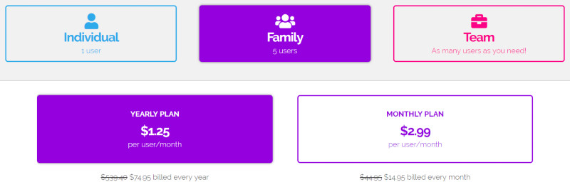 speedify price family