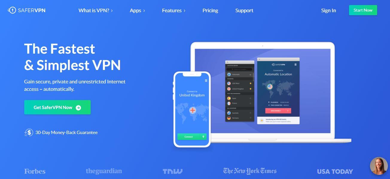 Bezpieczniejsza strona główna VPN