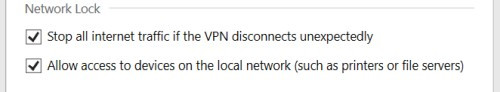 Express VPN options network lock