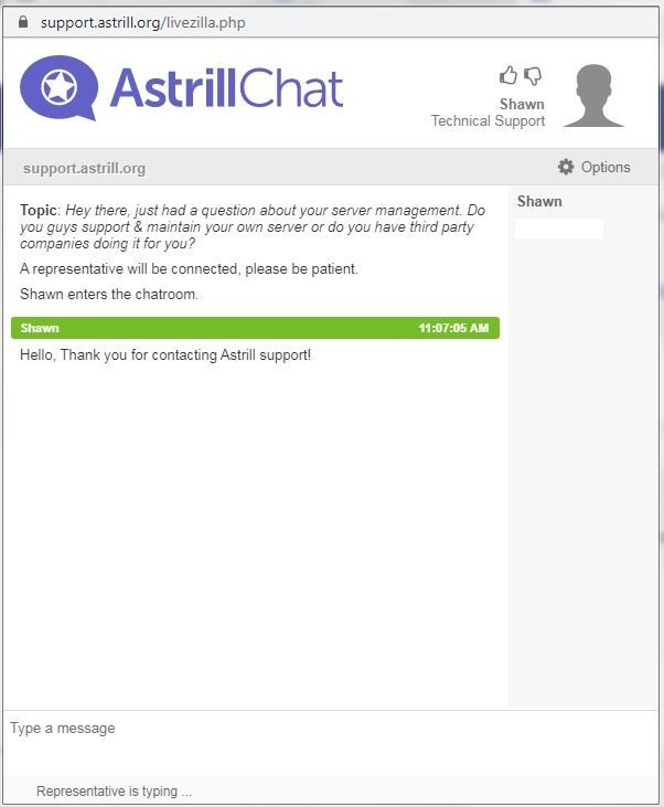 astrill livechat