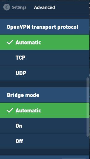 mullvad app preferences advanced